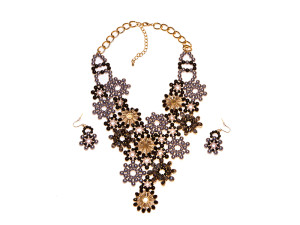 Midnight Bloom Floral Necklace